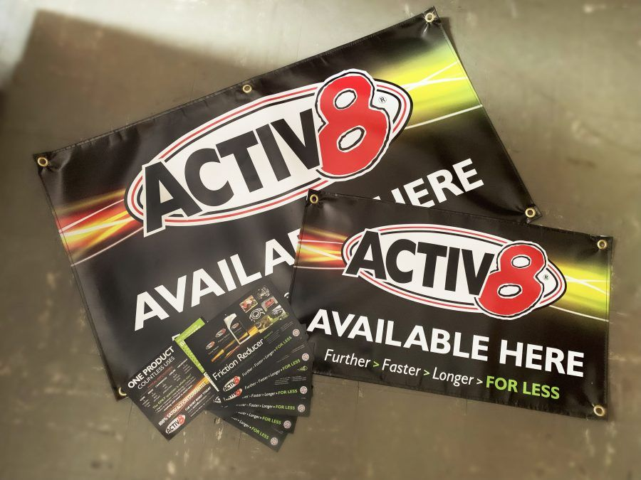 Activ8 Banners and Flyers