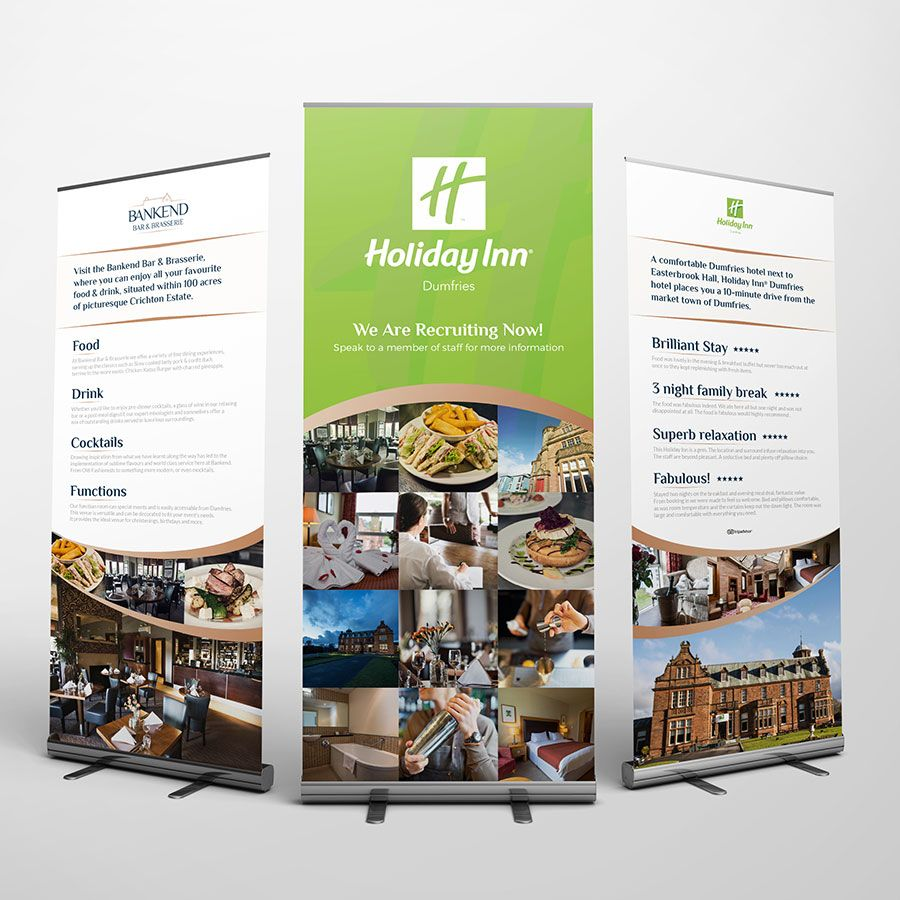 Holiday Inn Roller Banners