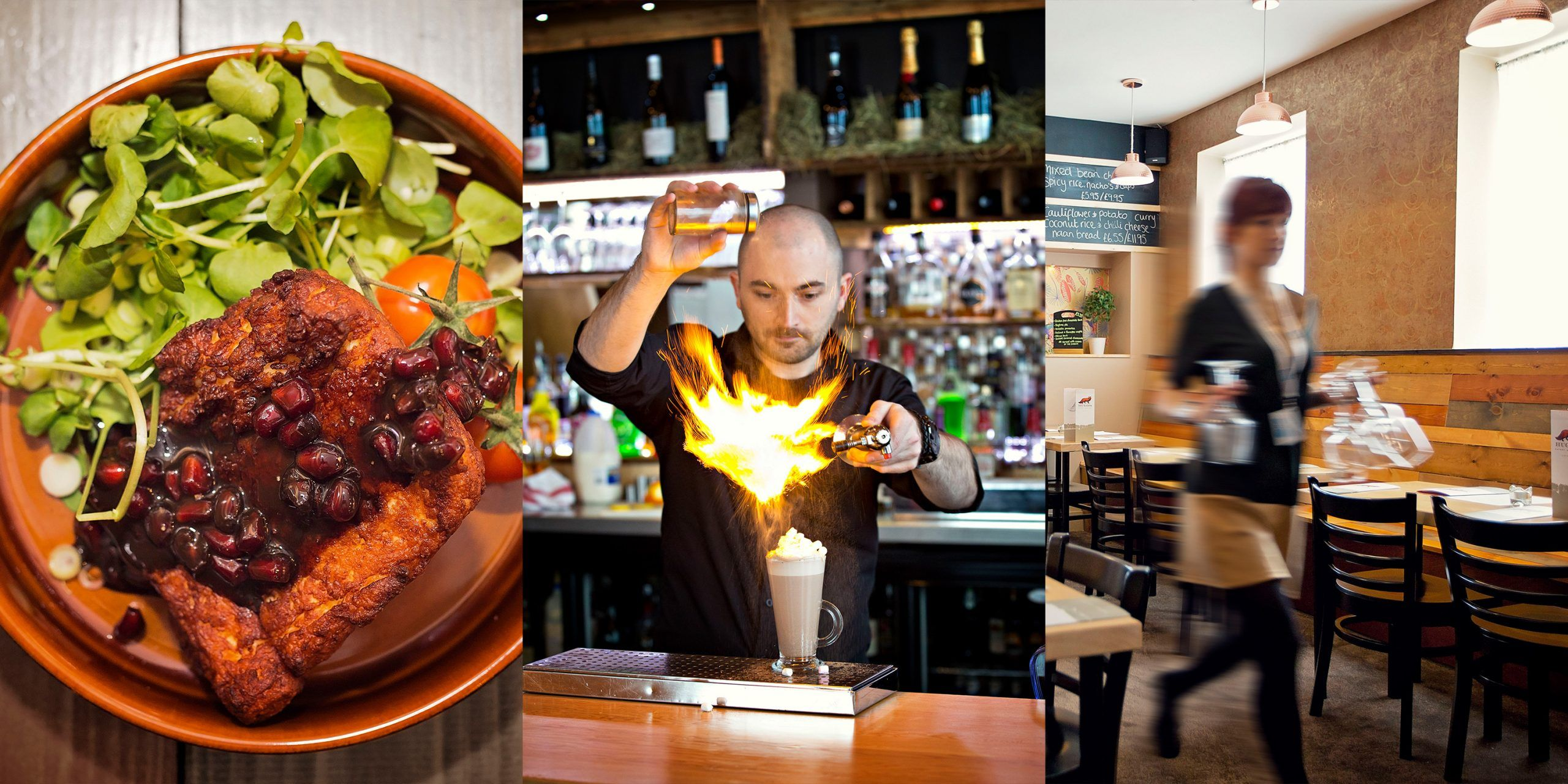 Collage of restaurant photography